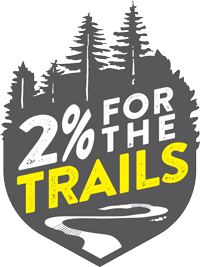 2% For the Trails Logo