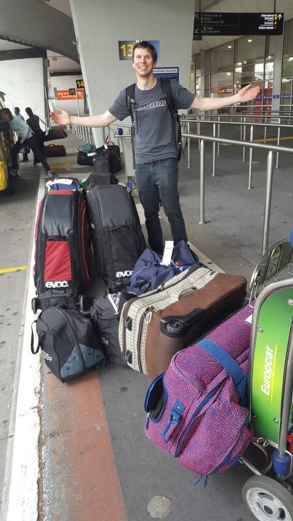Shane travelling with bikes